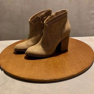 Restricted Chantal Laser Cut Bootie Taupe